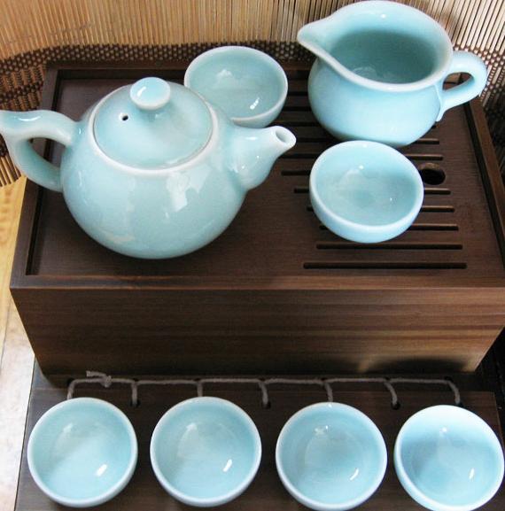 中国茶道之青瓷茶具